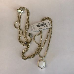 NWT Kendra Scott gold white teo necklace